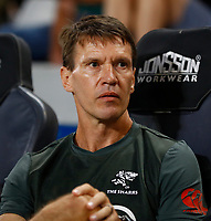 Jimmy Wright (Biokinetcist) of the Cell C Sharks during the Super rugby match between the Cell C Sharks and the Emirates Lions at Jonsson Kings Park Stadium in Durban, South Africa 30 March 2019. Photo: Steve Haag / stevehaagsports.com