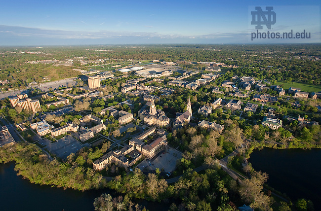 May 16, 2011; Aerial..Photo by Matt Cashore/University of Notre Dame