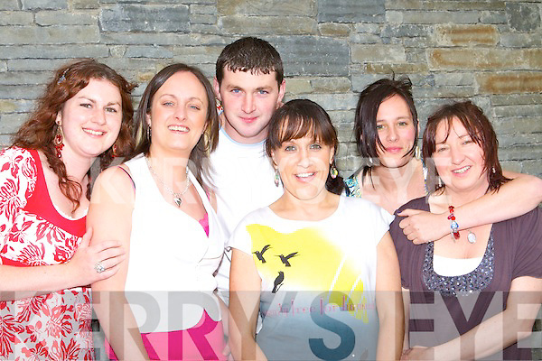 Karel Daly, Caroline Walsh, Niall Walsh, Lulu Kelly, Katie Burke and Mary Daly Killorglin having fun at the Chieftains concert as part of the World Bodhran festival in CYMS Killorglin Saturday night   Copyright Kerry's Eye 2008