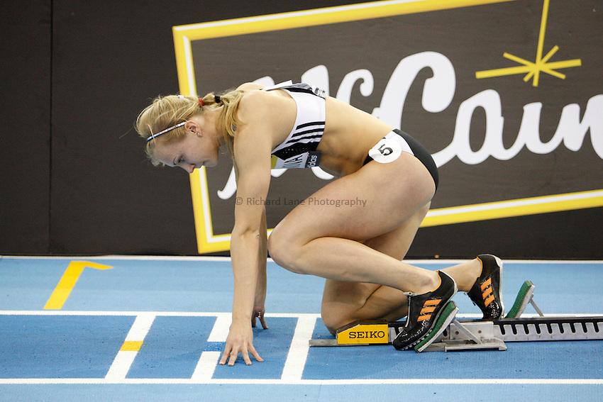 Photo: Richard Lane/Richard Lane Photography..Aviva Grand Prix. 21/02/2009. Russia's Anna Bogdanova during the Three Event Challenge women's 400m.