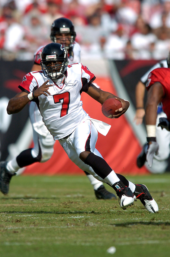 Atlanta Falcons quarterback Michael Vick during the 2004 NFL season.