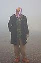 Iraq 2015 A Yezidi peshmerga in the fog near Sinjar  <br />Irak 2015 Un Yezidi peshmerga  dans le brouillard pres de Sinjar