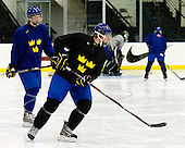 Calle Klingberg (Sweden - 17), Niclas Edman (Sweden - 5) - Team Sweden practiced at the Urban Plains Center in Fargo, North Dakota, on Saturday, April 18, 2009 in the morning prior to their final match against the Czech Republic during the 2009 World Under 18 Championship.