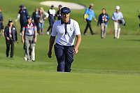 Bryson Dechambeau (Team USA) on the 9th green during Saturday's Foursomes Matches at the 2018 Ryder Cup 2018, Le Golf National, Ile-de-France, France. 29/09/2018.<br /> Picture Eoin Clarke / Golffile.ie<br /> <br /> All photo usage must carry mandatory copyright credit (&copy; Golffile | Eoin Clarke)