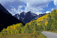 Maroon Peak in Rocky Mountains, Colorado, USA. Maroon Bells.