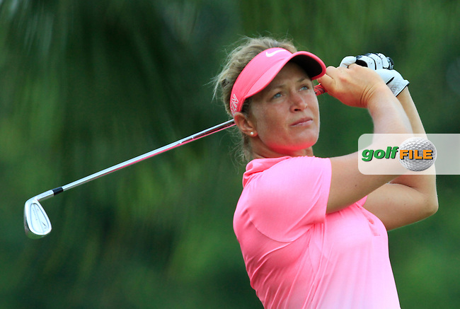Suzann Pettersen (NOR) on the 2nd tee during Round 4 of the HSBC Women's Champions at the Sentosa Golf Club, The Serapong Course in Singapore on Sunday 8th March 2015.<br /> Picture:  Thos Caffrey / www.golffile.ie