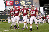 Captains during Stanford's loss to Georgia Tech in the Seattle Bowl in Seattle, WA on December 27, 2001.<br />Photo credit mandatory: Gonzalesphoto.com