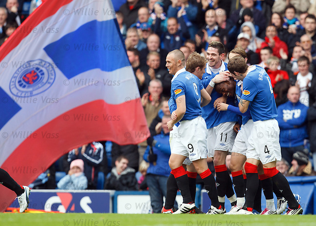 Maurice Edu takes the acclaim for his goal