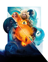 A Wrinkle in Time (2018) <br /> Promotional art with Reese Witherspoon, Oprah Winfrey, Mindy Kaling, Chris Pine, Storm Reid, Deric Mccabe, Zach Galifianakis &amp; Levi Miller<br /> *Filmstill - Editorial Use Only*<br /> CAP/MFS<br /> Image supplied by Capital Pictures