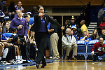 17 December 2013: Duke head coach Joanne P. McCallie. The Duke University Blue Devils played the University of Connecticut Huskies at Cameron Indoor Stadium in Durham, North Carolina in a 2013-14 NCAA Division I Women's Basketball game. UConn won the game 83-61.