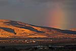 Rainbow at sunrise over the Honey Valley, near Susanville, Lassen County, California