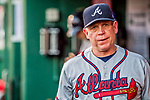 8 July 2017: Atlanta Braves assistant hitting coach Jose Castro in the dugout during a game against the Washington Nationals at Nationals Park in Washington, DC. The Braves shut out the Nationals 13-0 to take the third game of their 4-game series. Mandatory Credit: Ed Wolfstein Photo *** RAW (NEF) Image File Available ***