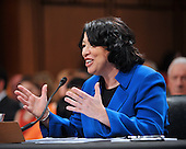 Washington, DC - July 13, 2009 -- Judge Sonia Sotomayor delivers her opening statement before the United States Senate Judiciary Committee as it considers her nomination as Associate Justice of the U.S. Supreme Court on Monday, July 13, 2009..Credit: Ron Sachs / CNP