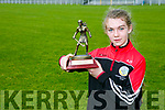 Amy O'Sullivan, Kilflynn, winner of the all Irelnd Skills Feile Champion 2017