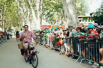 Fans are entertained by the publicity caravan at the finish of Stage 17 of the 2019 Tour de France running 200km from Pont du Gard to Gap, France. 24th July 2019.<br /> Picture: ASO/Thomas Maheux | Cyclefile<br /> All photos usage must carry mandatory copyright credit (© Cyclefile | ASO/Thomas Maheux)