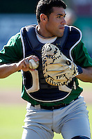 July 16, 2009:  Catcher Sandy Leon of the vermont Lake Monsters during a game at Russell Diethrick Park in Jamestown Jammers, NY.  The Lake Monsters are the NY-Penn League Short-Season Class-A affiliate of the Washington Nationals.  Photo By Mike Janes/Four Seam Images