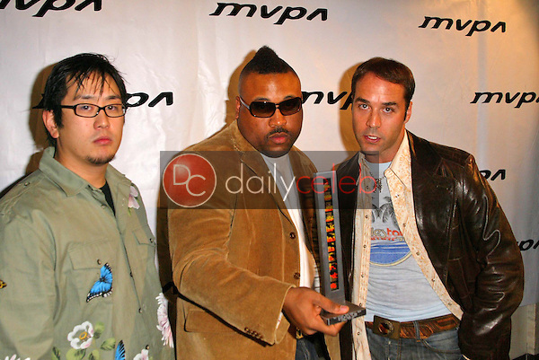 Joe Hahn, Bryan Barber and Jeremy Piven