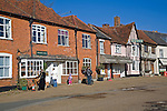 Houses and shops on the village market square Lavenham, Suffolk, England