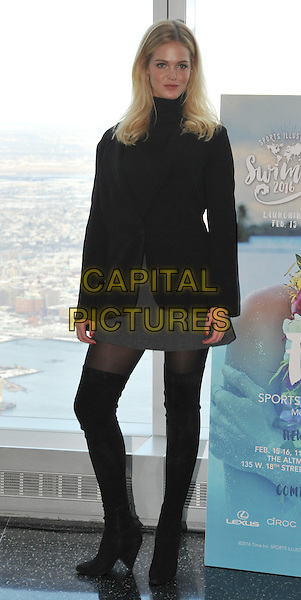New York,NY-January 27: Erin Heatherton attend the Sports Illustrated Swimsuit 2016 Press Conference at One World Observatory on January 27, 2016 in New York City. <br /> CAP/MPI/STV<br /> &copy;STV/MPI/Capital Pictures