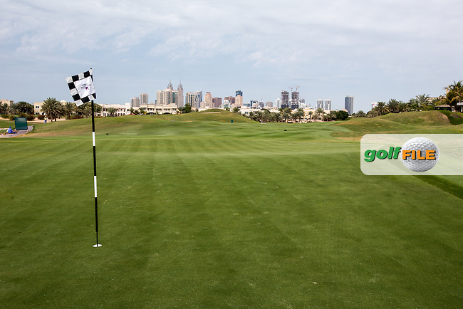 5th green at The Address Montgomerie Golf Club, Dubai, United Arab Emirates.  27/01/2016. Picture: Golffile | David Lloyd<br /> <br /> All photos usage must carry mandatory copyright credit (&copy; Golffile | David Lloyd)