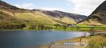 Landscape view of Lake Buttermere, Gatesgarth, Lake District national park, Cumbria, England, UK