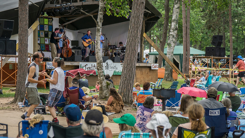 Scenes from the Hiawatha Traditional Music Festival in Marquette, Michigan.
