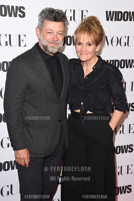 LONDON, UK. October 31, 2018: Andy Serkis &amp; Lorraine Ashbourne at the &quot;Widows&quot; special screening in association with Vogue at the Tate Modern, London.<br /> Picture: Steve Vas/Featureflash