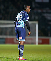 Goalscorer Myles Weston of Wycombe Wanderers during the Sky Bet League 2 match between Wycombe Wanderers and Plymouth Argyle at Adams Park, High Wycombe, England on 14 March 2017. Photo by Kevin Prescod / PRiME Media Images.