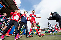 Picture by Allan McKenzie/SWpix.com - 30/03/2018 - Rugby League - Betfred Super League - Hull KR v Hull FC - KC Lightstream Stadium, Hull, England - Maurice Blair comes out with mascot to the field.