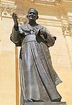 Pope John Paul II statue, cathedral church of the Assumption in citadel castle Il-Kastell, Victoria Rabat, Gozo, Malta