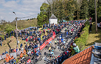 peloton on the infamous Mur de Huy<br /> <br /> 81st La Fl&egrave;che Wallonne (1.UWT)<br /> One Day Race: Binche &rsaquo; Huy (200.5km)