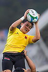 Malaysia plays Uzbekistan during the17th Asian Games 2014 Rugby Womens Sevens tournament on October 02, 2014 at the Namdong Asiad Rugby Field in Incheon, South Korea. Photo by Alan Siu / Power Sport Images