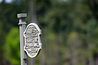 The Second hole tee box marker at the second round of the Augusta National Womans Amateur 2019, Champions Retreat, Augusta, Georgia, USA. 04/04/2019.<br /> Picture Fran Caffrey / Golffile.ie<br /> <br /> All photo usage must carry mandatory copyright credit (&copy; Golffile | Fran Caffrey)