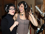 Chita Rivera & Stephanie J. Block recording the 2012 Original Broadway Cast Recording of 'The Mystery of Edwin Drood' at the KAS Music & Sound Studios in Astoria, New York on December 10, 2012