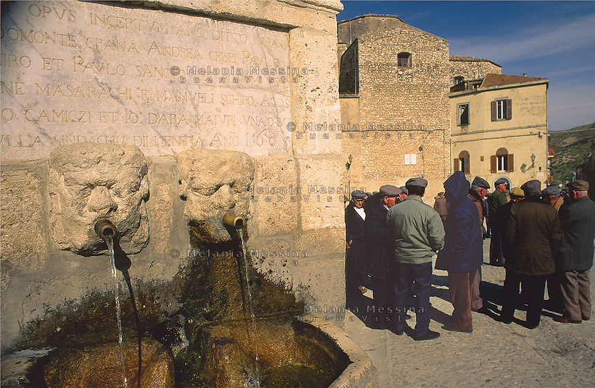 The main square of Palazzo Adriano in the province of Palermo.<br /> La piazza di Palazzo Adriano, comune della provincia di Palermo.