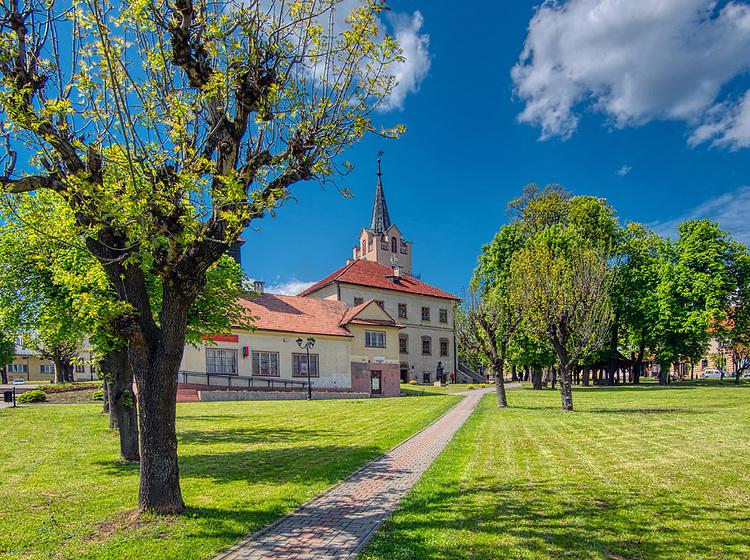 Nowy Wiśnicz 11-05-2019. Ratusz miejski w Nowym Wiśniczu, Polska<br /> City Hall in Nowy Wiśnicz, Poland