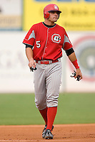 Chattanooga Lookouts first baseman Joy Votto takes his lead off of second base versus the Birmingham Barons at Hoover Metropolitan Stadium in Birmingham, AL, Sunday, August 20, 2006.