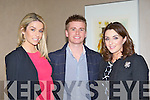 Celebrity couple Pippa O'Connor and Brian Ormond with Marie Chalke at the Brown Thomas fashion show in the Aghadoe Heights Hotel Killarney on Friday night..