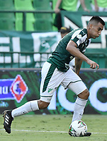PALMIRA - COLOMBIA, 31-03-2019: Christian Rivera del Cali en acción durante el partido por la fecha 12 de la Liga Águila I 2019 entre Deportivo Cali y Cúcuta Deportivo jugado en el estadio Deportivo Cali de la ciudad de Palmira. / Christian Rivera of Cali in action during the Match between Deportivo Cali and Cucuta Deportivo as parto of Aguila League I 2019 played at Deportivo Cali stadium in Palmira city.  Photo: VizzorImage / Gabriel Aponte / Staff