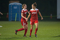 Kansas City, MO - Saturday May 27, 2017:  Alyssa Kleiner, Havana Solaun during a regular season National Women's Soccer League (NWSL) match between FC Kansas City and the Washington Spirit at Children's Mercy Victory Field.