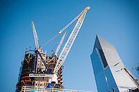 Construction of the Hudson Yards development in New York on Friday, October 14, 2016.  (© Richard B. Levine)