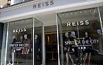 Reiss women's designer fashion clothes shop, Milsom Street, Bath, Somerset, England