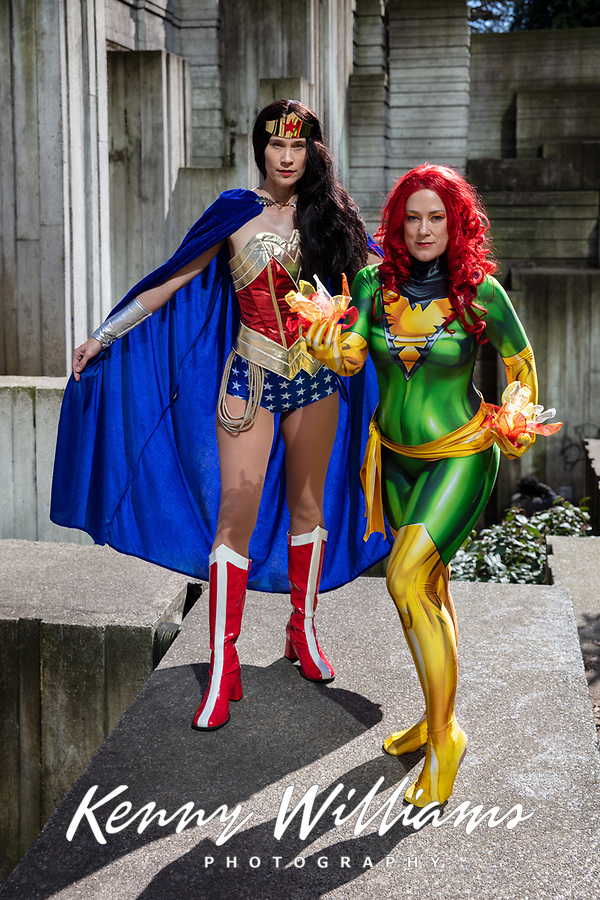 Keri Lord as Wonder Woman and Drusilla Stinson, Emerald City Comicon, Seattle, WA, USA.