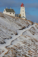 Hornøya Island lighthouse, today an ecotourism lodging place, Varanger Peninsula, Norway, Scandinavia