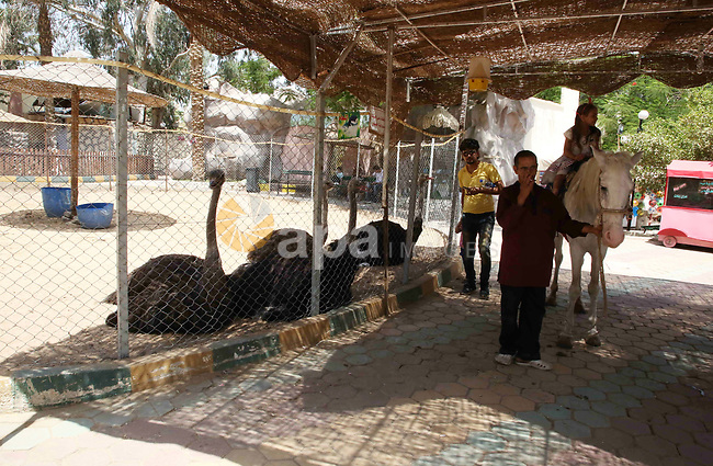Egyptians enjoy their time on the third day of Eid al-Fitr holiday which marks the end of the Muslim holy month of Ramadan at a zoo in Cairo, Egypt, on June 17, 2018. Photo by Amr Sayed