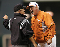Texas Longhorns Manager Augie Garrido during the 2008 season. Photo by Andrew Woolley / Four Seam Images.
