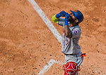 29 April 2017: New York Mets infielder Jose Reyes crosses the plate after hitting a solo home run in the 9th inning against the Washington Nationals at Nationals Park in Washington, DC. The Mets defeated the Nationals 5-3 to take the second game of their 3-game weekend series. Mandatory Credit: Ed Wolfstein Photo *** RAW (NEF) Image File Available ***