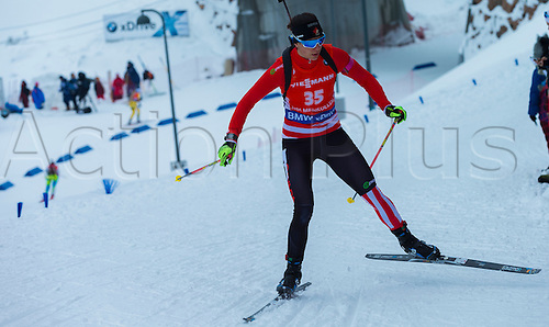 05.03.2016. Oslo Holmenkollen, Oslo, Norway. IBU Biathlon World Cup. Day One.  Rosanna Crawford of Canada competes in the Ladies 7.5km sprint competition during the IBU World Championships Biathlon in Holmenkollen Oslo, Norway.