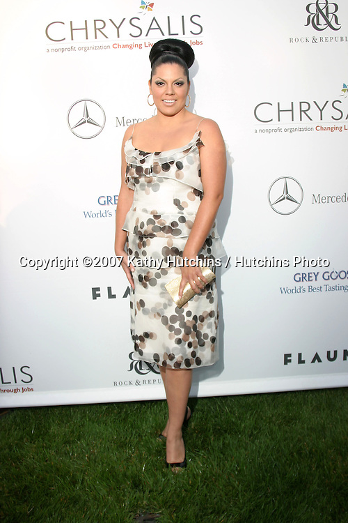 Sara Ramirez.6th Annual Chrysalis Butterfly Ball.Private Home of Susan Harris & Hayward Kaiser.Brentwood, CA.June 2, 2007.©2007 Kathy Hutchins / Hutchins Photo....