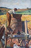 Europe/Europe/France/Midi-Pyr&eacute;n&eacute;es/46/Lot/Cahors: Peintures de l'escalier de la Pr&eacute;fecture : L'escalier est d&eacute;cor&eacute; aujourd'hui d'une s&eacute;rie de 5 grands tableaux maroufl&eacute;s du peintre symboliste Henri Martin (Toulouse 1860 &ndash; La Bastide-du-Vert 1943) repr&eacute;sentant le travail de la vigne.<br />  [Non destin&eacute; &agrave; un usage publicitaire - Not intended for an advertising use]